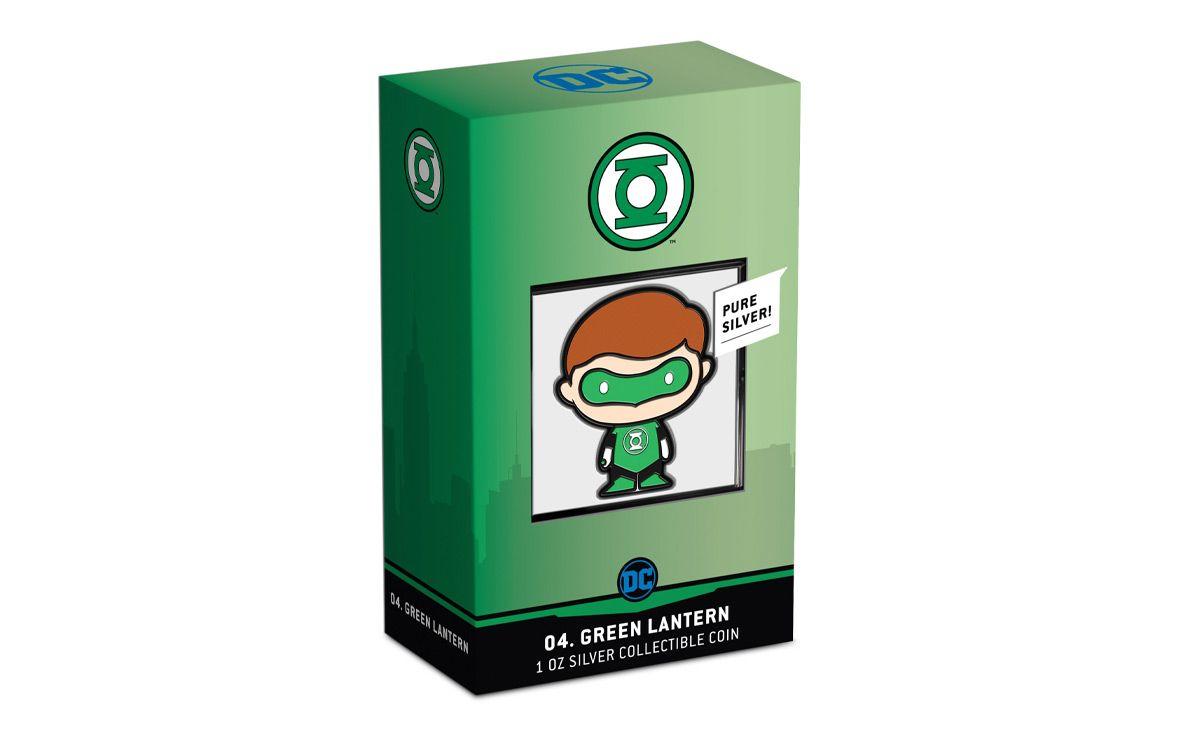 2020 Niue DC Comics Series Chibi Green Lantern 1 oz Silver Colorized Proof $2