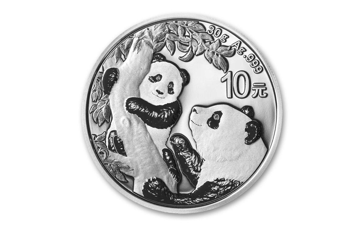 PANDA 30g Silver Color Coin China 2021