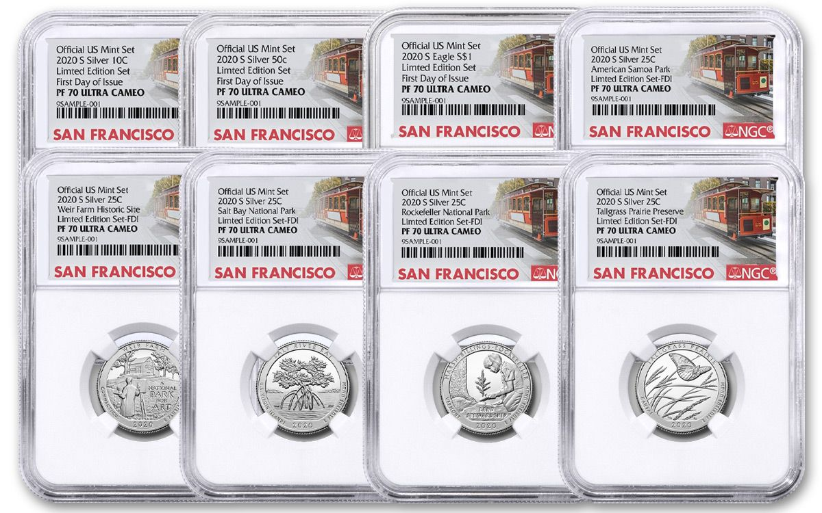 2020 S Proof American Silver Eagle San Francisco NGC PF70 UC First Release Label