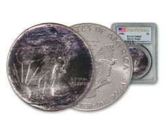 1986 $1 1-oz Silver Eagle Toned PCGS MS69 First Strike 81075774