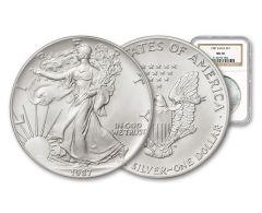 1987 $1 Silver Eagle NGC MS70