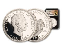 2018 Kingdom of Hawaii 125th Anniversary 1-oz Silver NGC Gem Proof Black Core