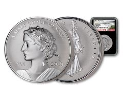 2019 Canada 1-oz Silver Peace & Liberty Medal Ultra High Relief Reverse NGC PF70 First Releases - Black Core