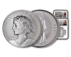 2019 Canada 1-oz Silver Peace & Liberty Medal Ultra High Relief Reverse NGC PF70 First Day of Production - Mercanti & Taylor Dual Signed Label
