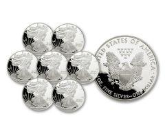 1986–1992-S $1 1-oz Silver American Eagle 7-Piece Proof Set