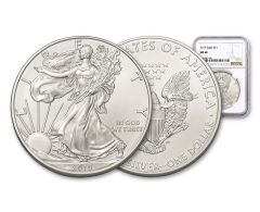 2019 $1 1-oz Silver American Eagle NGC MS69 - Brown Label