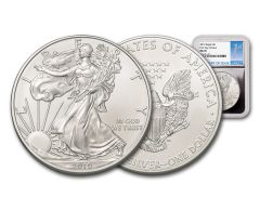 2019 $1 1-oz Silver American Eagle NGC MS70 First Day of Issue - Silver Foil Core