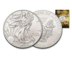 2019 $1 1-oz Silver American Eagle BU Congratulations Card