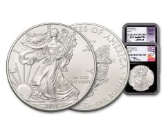 2019 1-oz Silver American Eagle 2-Coin Set NGC MS70 FDI Mercanti/Jones Signed Black Core