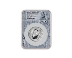 2019-P Apollo 11 50th Anniversary 5-oz Silver Dollar NGC PF70UC First Day of Issue - Moon Core with Mission Patch