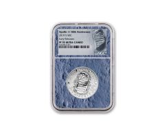 2019-S Apollo 11 50th Anniversary Clad Half Dollar NGC PF70UC Early Releases - Moon Core with Mission Patch