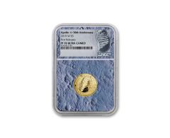 2019-W Apollo 11 50th Anniversary $5 Gold NGC PF70UC First Releases - Moon Core with Mission Patch