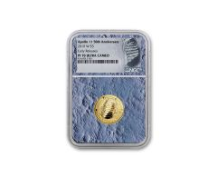 2019-W Apollo 11 50th Anniversary $5 Gold NGC PF70UC Early Releases - Moon Core with Mission Patch