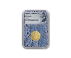 2019-W Apollo 11 50th Anniversary $5 Gold NGC MS70 First Releases - Moon Core with Mission Patch