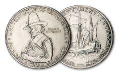 1920 Pilgrim Tercentenary Silver Half Dollar AU