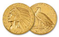 1908-1929 5 Dollar Indian BU