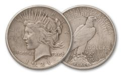 1921-P Peace Dollar High Relief VF
