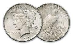 1923-P Peace Dollar BU