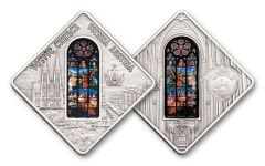 2012 Palau 10 Dollar Silver Votive Church Vienna Antique