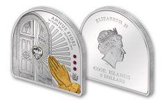 2013 Cook Island 5 Dollar Year of Faith - Swarovski Proof