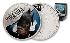 2013 Niue 1-oz Silver River Monsters - Piranha Proof
