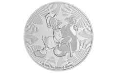 2018 Niue $2 Disney Scrooge McDuck 1 Ounce Silver NGC MS69 First Releases Black Core
