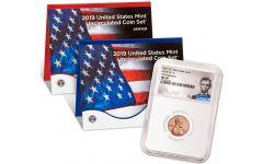 2019-P&D U.S. Mint Set w/2019-W Lincoln Cent NGC MS69 First Releases & Lincoln Label