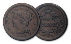 1818-1857 Large Cent Very Good-Fine