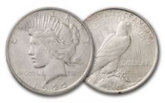 1922-D Peace Dollar XF