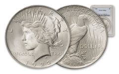 1922-P Silver Peace Dollar PCGS MS64
