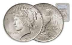 1922-P Peace Dollar NGC/PCGS MS64