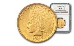 1907-P 10 Dollar Gold Indian NGC/PCGS MS64