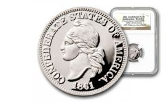 1861 Platinum Confederate Cent NGC GEM PR with Box