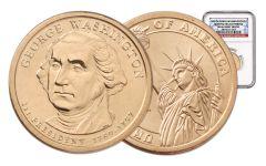2007 1 Dollar Washington MS64 No Motto Error