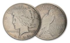 1934-S $1 Silver Peace Dollar VF