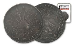 1861 Mexico 8 Reales NGC - Genuine Southern Dollar
