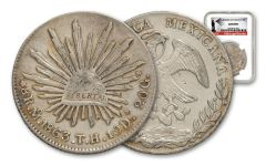 1863 Mexico 8 Reales NGC - Genuine Southern Dollar