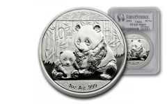 2012 China 1-oz Silver Panda PCGS MS69 First Strike