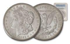 1921-D Morgan Silver Dollar PCGS/NGC MS64