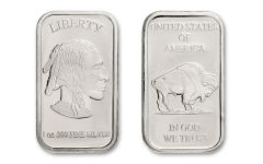 1-oz Silver Buffalo Bar BU