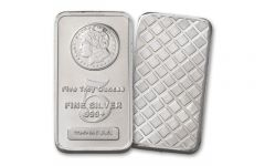 5oz Silver Morgan Design Bar BU