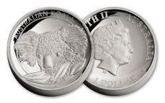 2014 Australia 1-oz Silver Koala High Relief Proof
