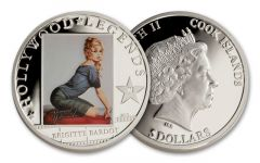2013 Cook Island 5 Dollar Brigitte Bardot Proof