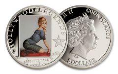 2013 Cook Island 5 Dollar Brigitte Bardot Proof