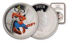 2014 Niue 1-oz Silver Disney Goofy NGC PF69UCAM