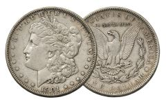 1901-P Morgan Silver Dollar VF