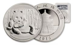 2015 1-oz Silver Panda PCGS MS69 First Strike