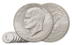 1971-1978 1 Dollar Eisenhower Clad XF-AU 10pc
