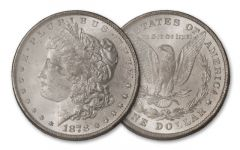 1878-P 1 Dollar Morgan 8 Tail Feather BU