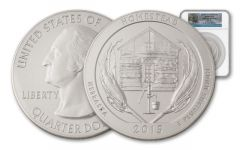 2015 5-oz Silver ATB Homestead NGC SP70 FDI